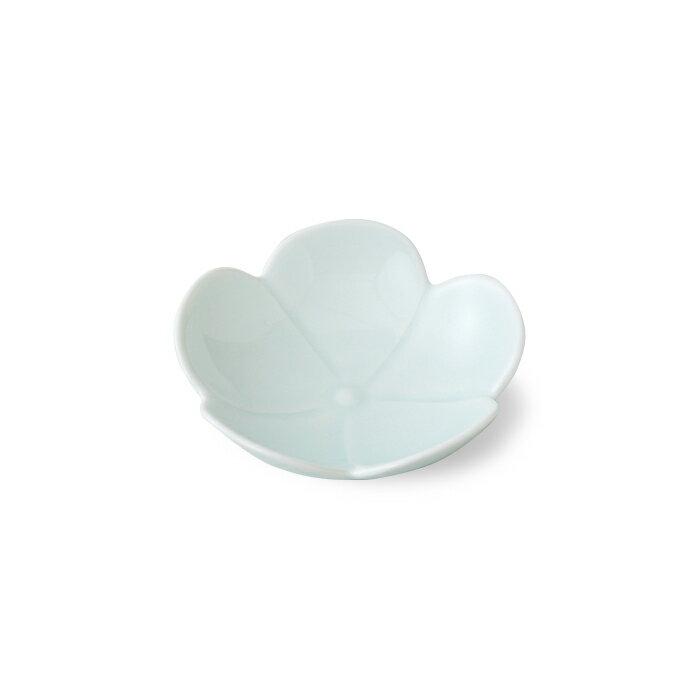 波佐見焼プルメリア一輪小皿青磁小皿豆皿はさみやき国内産通販楽天即納ギフト食器お皿花型おもてなし来客用