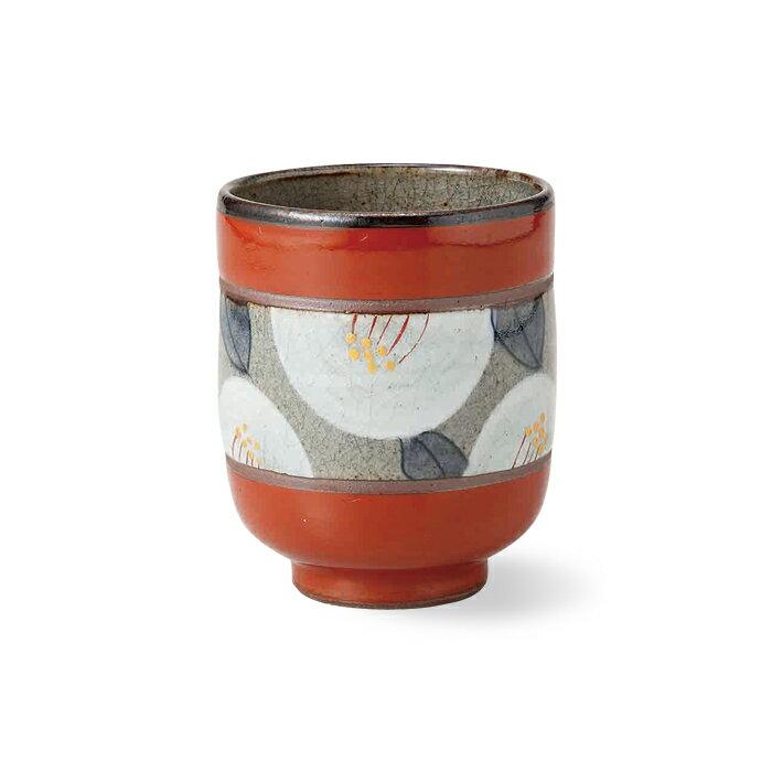 波佐見焼 赤花絵 湯呑 (赤) 275ml ゆのみ 湯飲み お茶 コップ はさみ焼 通販 楽天