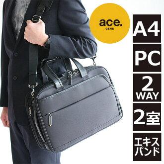 Assign ACEGENE/EVL-2.5s ACE Jean label business bag A4 compatible 2 WAY Briefcase 54580 40 cm shoulder points 10 times