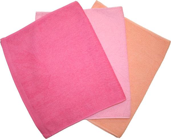 【業務用仕様】★超お買い得★スレンカラー フェイスタオル【ピンク系3色】【バラ】【4枚までメール便OK】