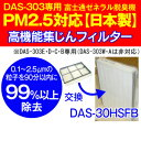 【日本製】PM2.5対応高機能集じんフィルター プラズマイオンUV加湿脱臭機(PLAZION)富士通ゼネラル DAS-303E・DAS-303D・DAS-303C・DA..
