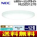 【送料無料】【HLDZD1270】【日本製】NEC シーリングライト LED 8畳〜12畳用 昼光色 住宅照明器具 LED照明 調光10段階デジタル連調 リモコン付【RCP】LIFELED 039 S HLDZD1270