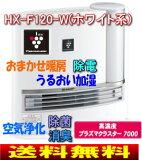 【送料無料】HX-F120(W) 加湿セラミックファンヒーター[プラズマクラスター7000/空中除菌/花粉対策/抗アレル物質/ウイルス抑制/脱臭/暖房]【RCP】SHARP HX-F120-W