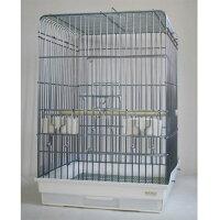 鳥かご 465オウム(465-3) オウムケージ 銀色メッキ HOEI(豊栄/ホーエイ)