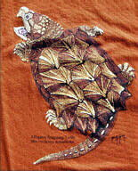 T19 Snapping Turtle カミツキガメ Tシャツ S ECOユニバース(エコユニバース)