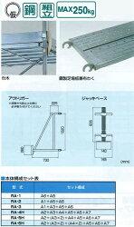 交叉筋違(1219×1829mm)鋼管製移動式足場ローリングタワーRARA-SJピカコーポレイション