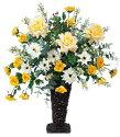 光触媒造花アレンジ 光の楽園 キングゴールド 3A0701-200
