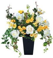 光触媒造花アレンジ 光の楽園 ゴールドマリー 3A0807-200