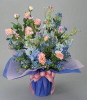 光触媒造花アレンジ 光の楽園 ブルーリバー 3A1104-150