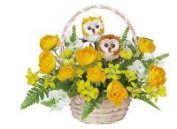 光触媒造花アレンジ 光の楽園 ペアフクロウ 3A2505-40