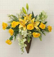 光触媒造花アレンジ 光の楽園 アレンジフラワー 壁掛けタイプ 3A2701-70