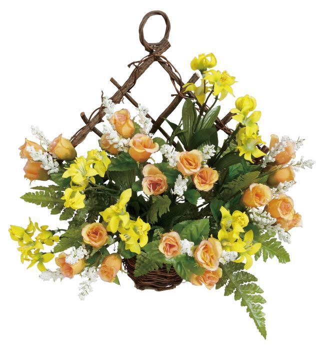 光触媒造花アレンジ 光の楽園 キュートハニーローズ 3A2803-30 - ウインドウを閉じる