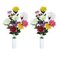 光触媒造花アレンジ 光の楽園 仏花ゆり2個セット 3A2905-30