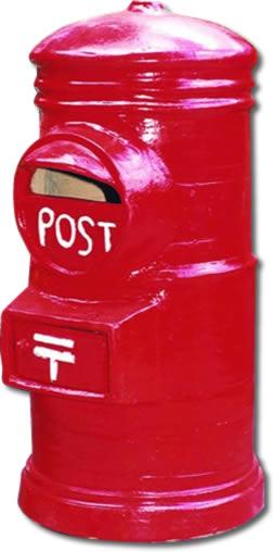 素焼きポストH800 赤 09001-1 ジャービス商事