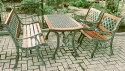 鋳鉄テーブル 4点セット 13001_13015_13017 ジャービス商事