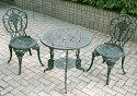 鋳物テーブル 3点セット(大) 13035 ジャービス商事