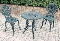 鋳物テーブル 3点セット(中) 13036 ジャービス商事