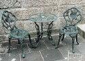 鋳物ガラステーブル 3点セット 13050 ジャービス商事
