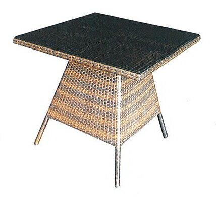 スクエアガラステーブル HY-2119Z 32708 ジャービス商事