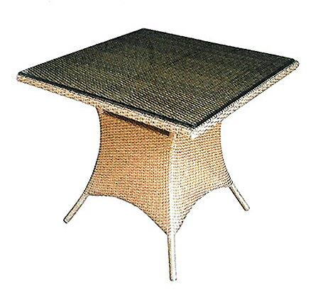 スクエアガラステーブル HY-2060Z-LB 32715 ジャービス商事