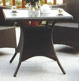 スクエアガラステーブル HY-2060Z-DB 32718 ジャービス商事