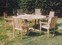 サンテーブル・スタッキングチェア 7点セット 37023_37028 ジャービス商事