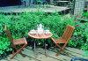 ミニ折り畳みテーブル 3点セット 37026 ジャービス商事