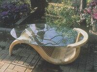 チークガラステーブル(無塗装) 37034 ジャービス商事