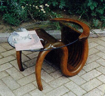 ミニチークガラステーブル(塗装品) 37061 ジャービス商事