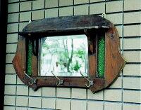 アンティーク調 化粧鏡(丸型) 71013 ジャービス商事