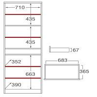 ミラベル 食器棚・収納 MB-1875TH タカシン家具