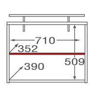 ミラベル オプション上置き(MB-1875SR、1875TH用) MB-5575UP タカシン家具