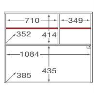 ミラベル オプションレンジボード(MB-9011SR用) MB-9011UP タカシン家具