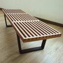 【送料無料】プラットフォームベンチ/Platform Bench W152・アッシュ材ウォールナット塗装 ジ...
