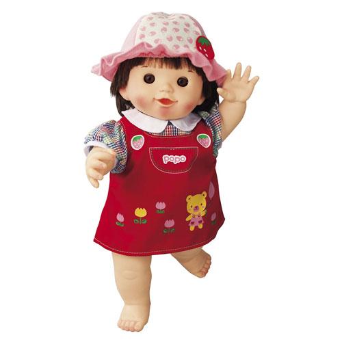 ぽぽちゃんお人形やわらかお肌の女の子だもんぽぽちゃんくまさんジャンパースカート|おすすめ誕生日プレゼ