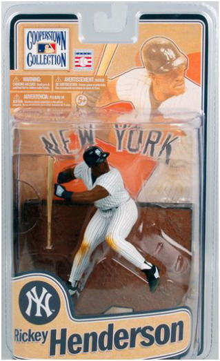 The McFarlane toys MLB Cooperstown series 8/ Rickey Henderson / New York Yankees