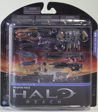 5 McFarlane HALO REACH series weapon set (WEAPON PACK)/ ヘイロー reach mcfarlane