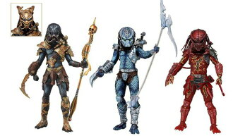 7 inches of 10 NECA predators figure skating series SET OF3(3 body sets)