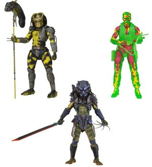 7 inches of 11 NECA predators figure skating series SET OF3(3 body sets)
