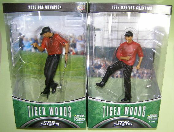 Two アッパーデック GOLF T.WOODS( Tiger Woods) series 1/1997 MASTERS&2000 PGA Championship set limitation BOX red