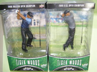 Tiger Woods hates upper deck GOLF T.WOODS() series 2 2000 US OP & 2000 BRITISH OP 2 pieces set-limited edition