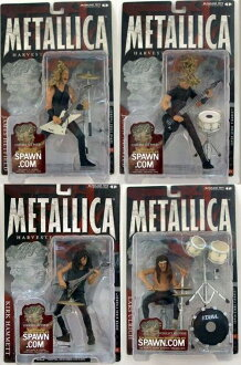 *Four McFarlane toys MUSIC series /METALLICA set / Metallica HARVESTOR OF SORROW which there is package hurt in