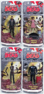 McFarlane toys walking dead comics series 2/THE WALKING DEAD SERIES/4 body set