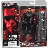 McFarlane Toys MOVIE series / Terminator 3 T-850 with coffin/T3