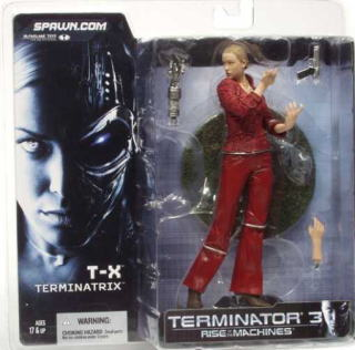 3 McFarlane toys MOVIE series / terminator T-X/T3