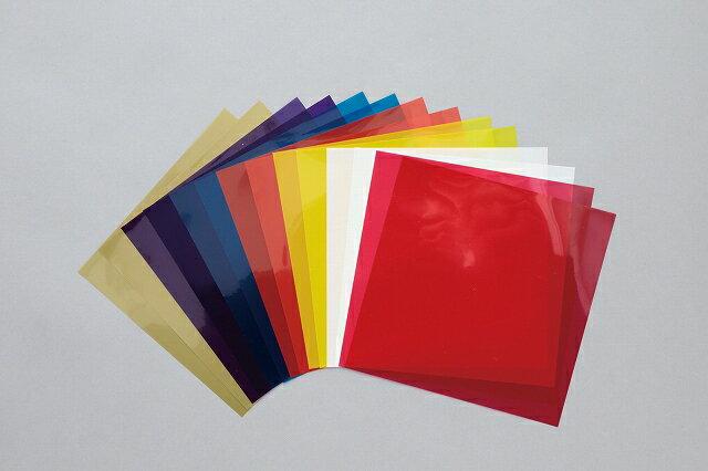 すべての折り紙 折り紙 トーヨー : 色各2枚透明フィルムの折り紙 ...