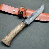 渓流ナイフ 青105 両刃 黒槌