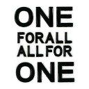 ショッピングアイコス 蒔絵シール 【ONE FOR ALL ALL FOR ONE 黒】ケータイ スマホ iPhone デコ ステッカー 英字 ワンポイント シンプル カッコイイ iQOS アイコス