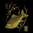 蒔絵シール【釣道八景 ヘラブナ(金)】ケータイ スマホ iPhone カバー デコ ステッカー ゴールド シール 釣り 魚 箆鮒