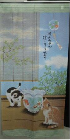 のれん 癒しのネコ